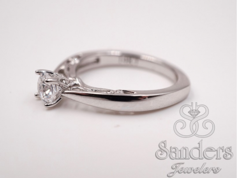 Bridal Jewelry - Solitaire Diamond Engagement Ring  - image #2