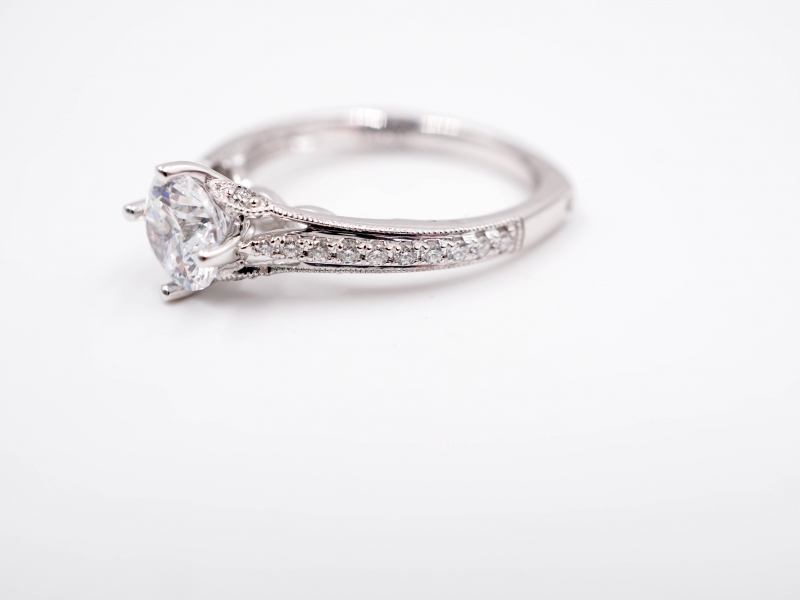 Bridal Jewelry - East to West Diamond Engagement Ring - image #2