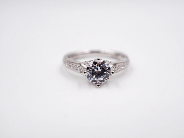Bridal Jewelry - East to West Diamond Engagement Ring