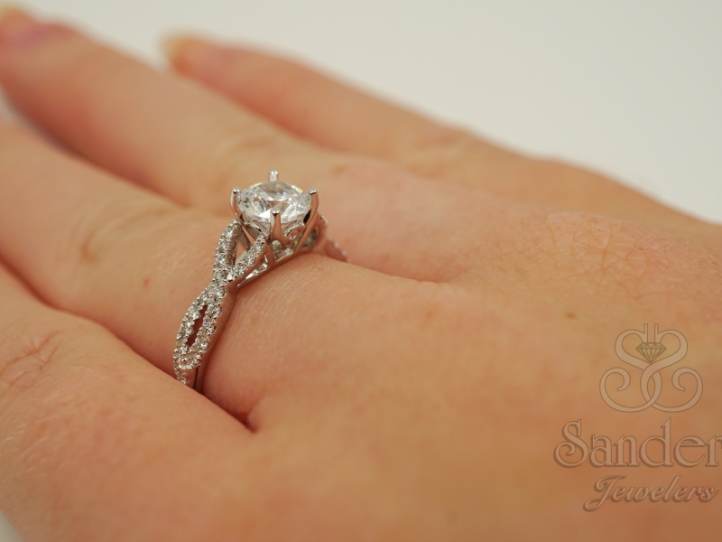 Bridal Jewelry - Twisting Diamond Engagement Ring - image 4
