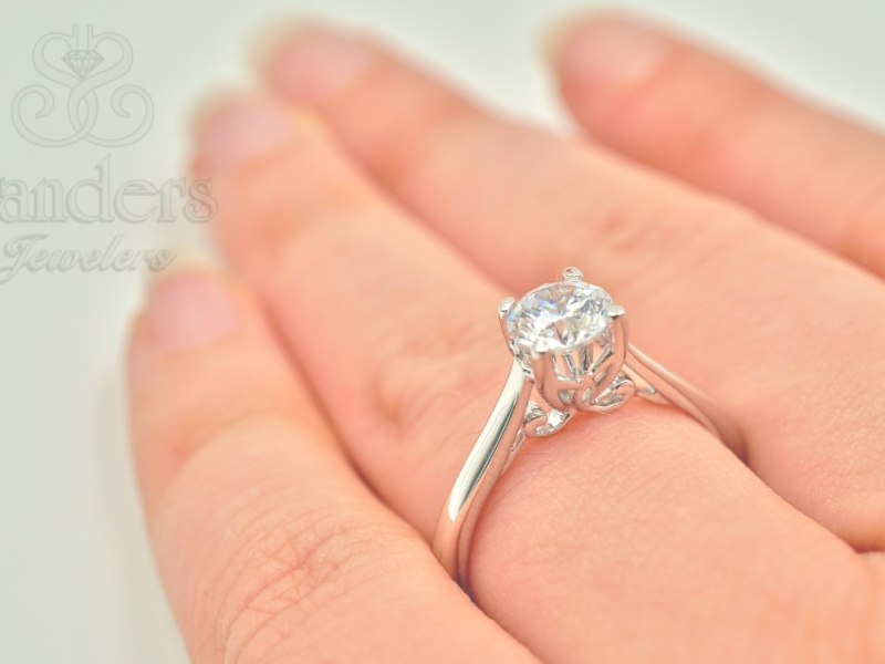 Bridal Jewelry - Solitaire Engagement Ring - image #5