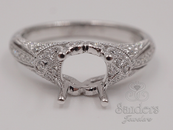 Bridal Jewelry - Vintage Style Engagement Ring