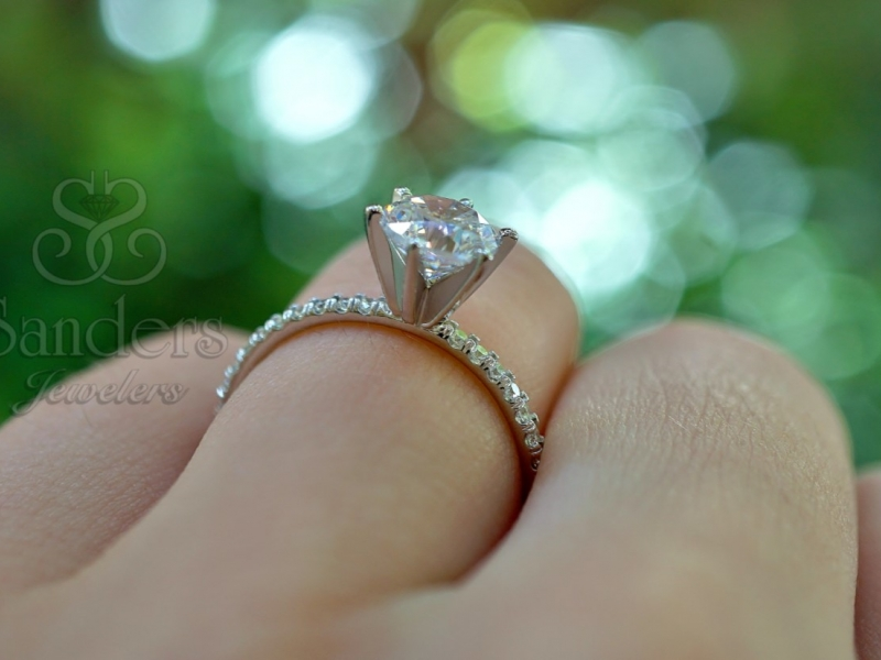 Bridal Jewelry - Classic Diamond Engagement Ring - image #4