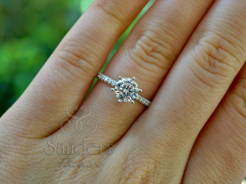 Bridal Jewelry - Classic Diamond Engagement Ring - image #3