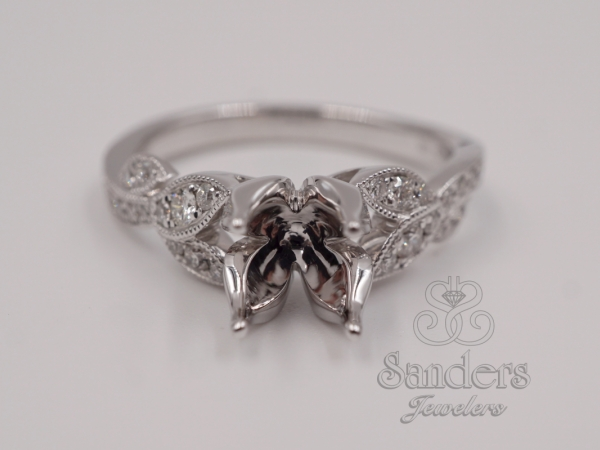 Bridal Jewelry - Floral Inspired Engagement Ring