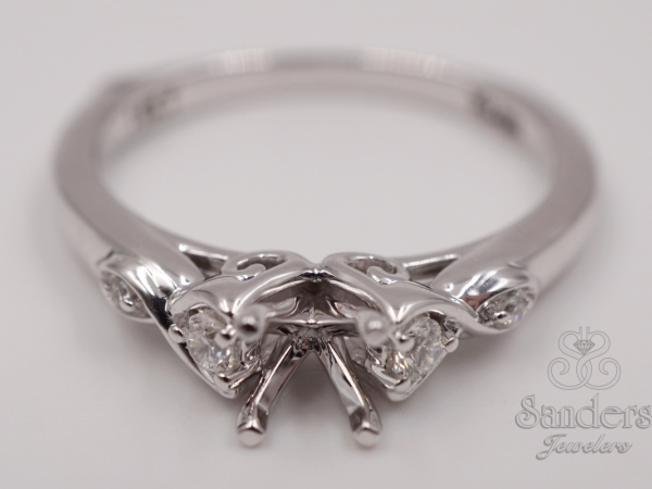 Bridal Jewelry - Crossover Diamond Engagement Ring