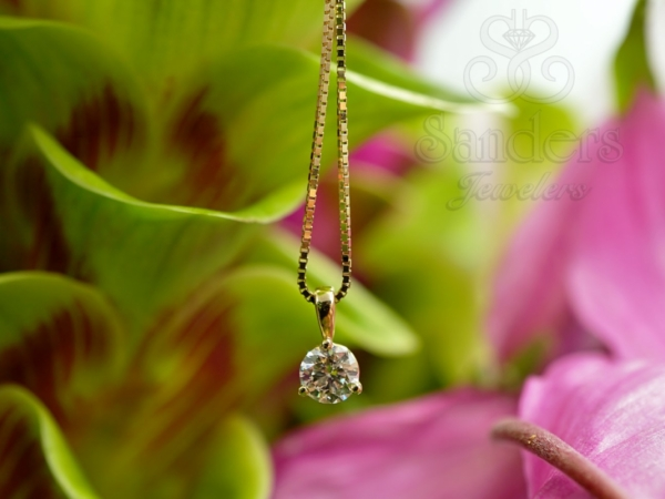 Pendants & Necklaces - Diamond Solitaire Pendant