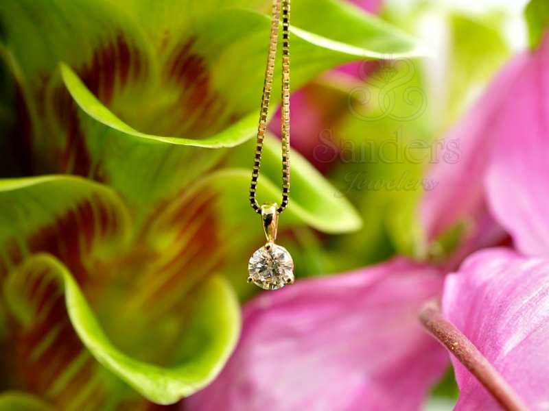 Pendants & Necklaces - Diamond Solitaire Pendant - image #2