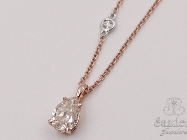 Pendants & Necklaces - Teardrop Diamond Solitaire Pendant