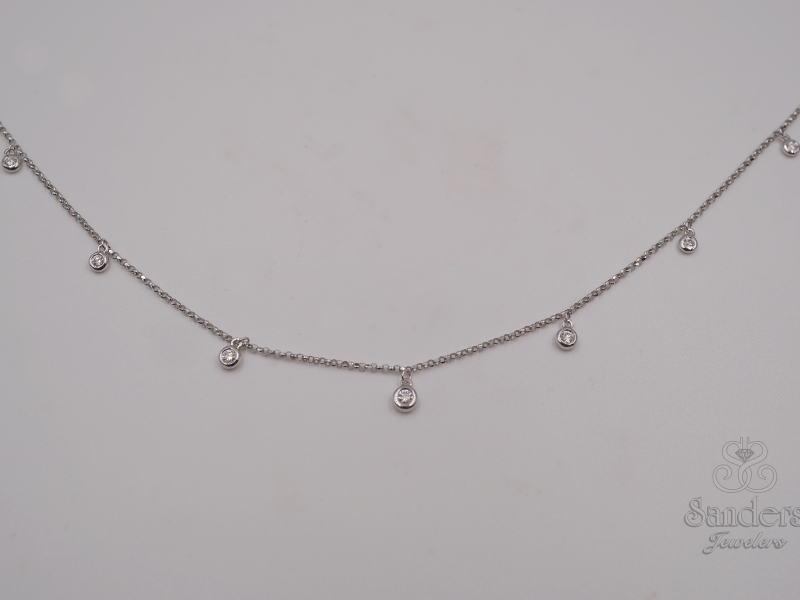 Pendants & Necklaces - Diamond Dangle Necklace - image 2