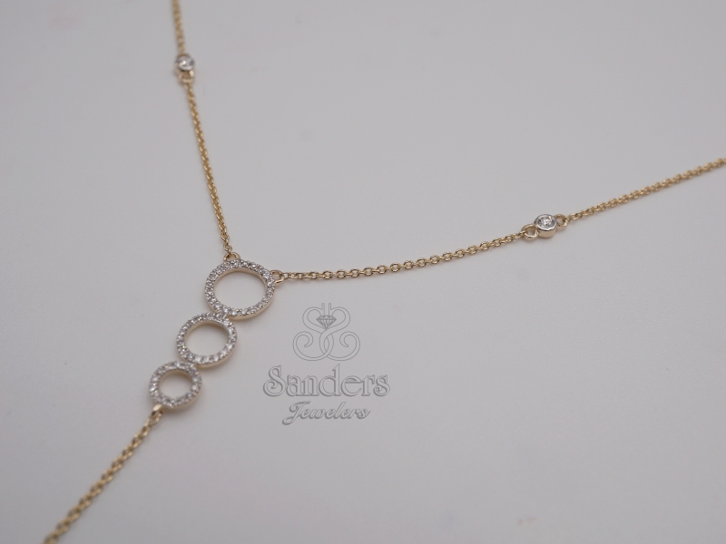 Pendants & Necklaces - Lariat Style Diamond Necklace - image #2
