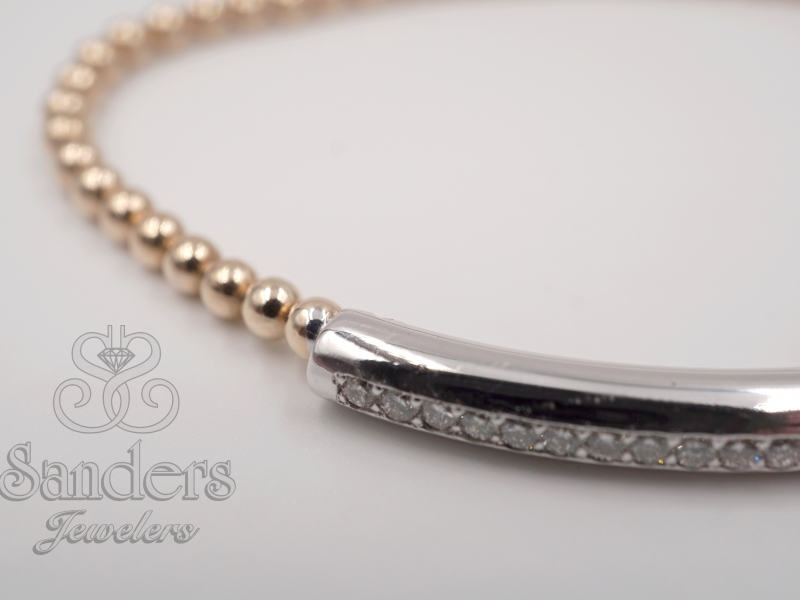 Bracelets - Diamond Bar Bracelet - image #2