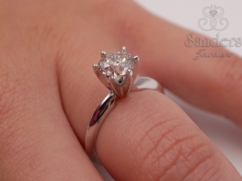 Bridal Jewelry - Diamond Solitaire Engagement Ring - image #3