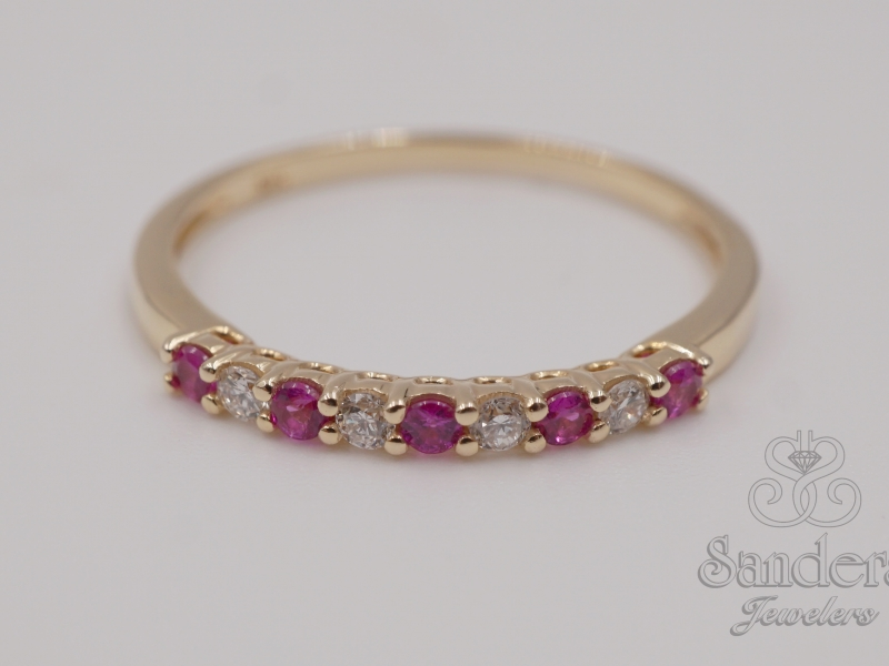 Rings - Ruby and Diamond Band