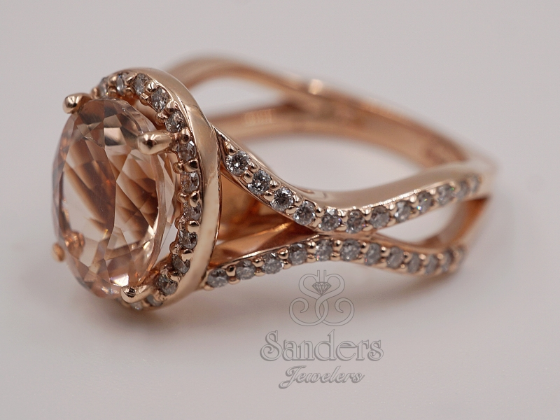 Rings - Oval Morganite Fashion Ring - image #2