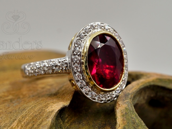 Rings - Tourmaline and Diamond Ring