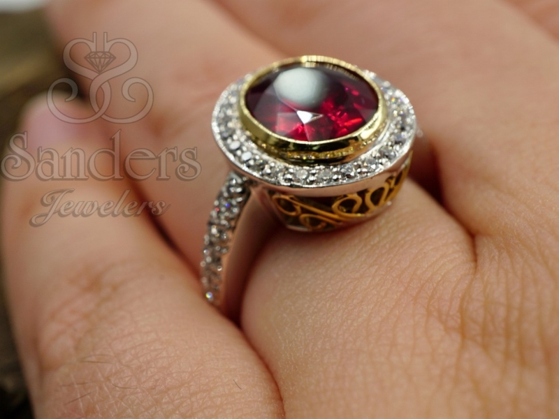 Rings - Tourmaline and Diamond Ring - image #4