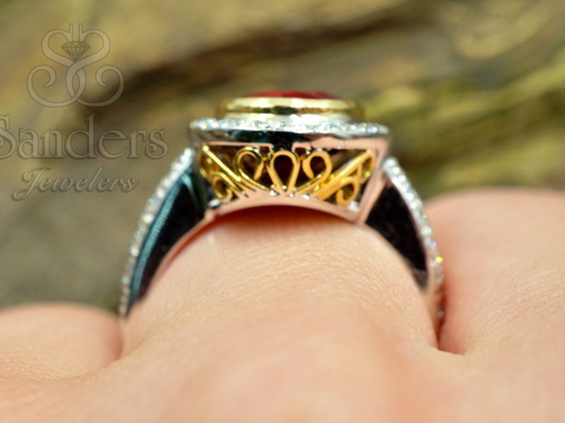 Rings - Tourmaline and Diamond Ring - image #2