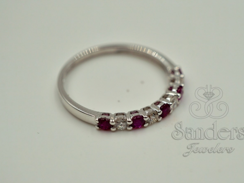 Rings - Ruby and Diamond Band - image 2
