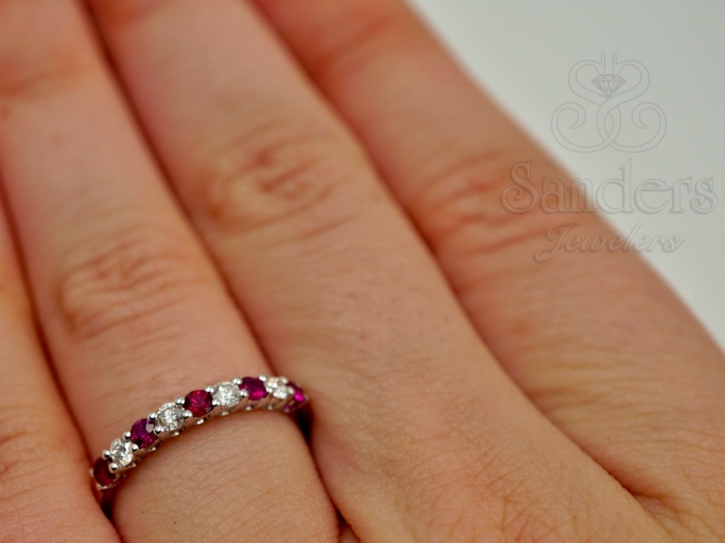 Rings - Ruby and Diamond Band - image 4