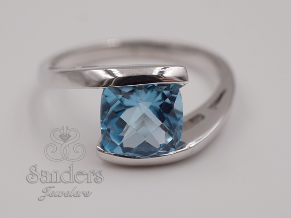 Rings - Blue Topaz Bypass Ring