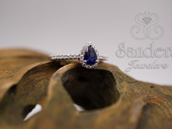 Rings - Sapphire and Diamond Halo Ring
