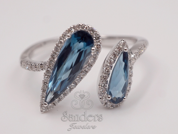 Rings - London Blue Topaz Bypass Fashion Ring