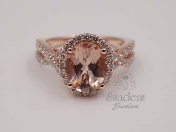 Rings - Morganite and Diamond Ring