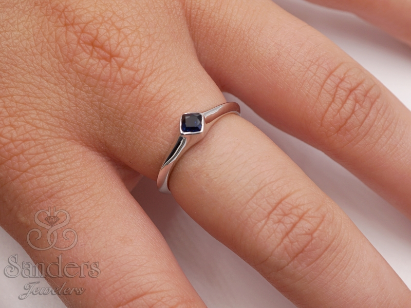 Rings - Sapphire Stacker Ring - image #3