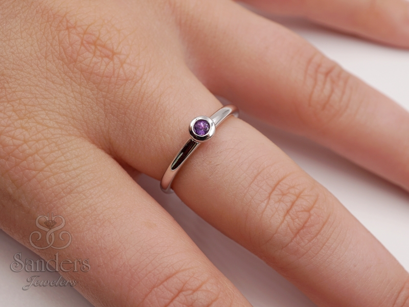Rings - Amethyst Stacker Ring - image #2