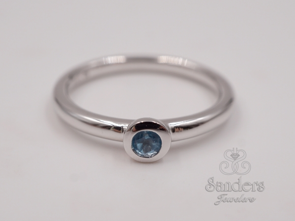 Rings - Blue Topaz Stacker Ring