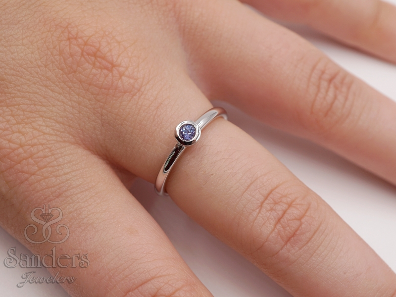 Rings - Created Alexandrite Stacker Ring - image 2