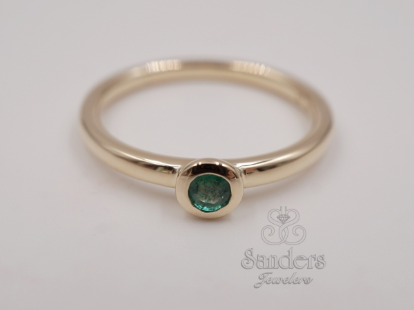 Rings - Emerald Stacker Ring