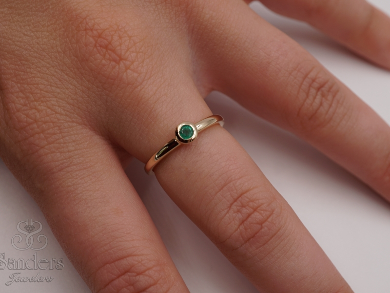 Rings - Emerald Stacker Ring - image #2
