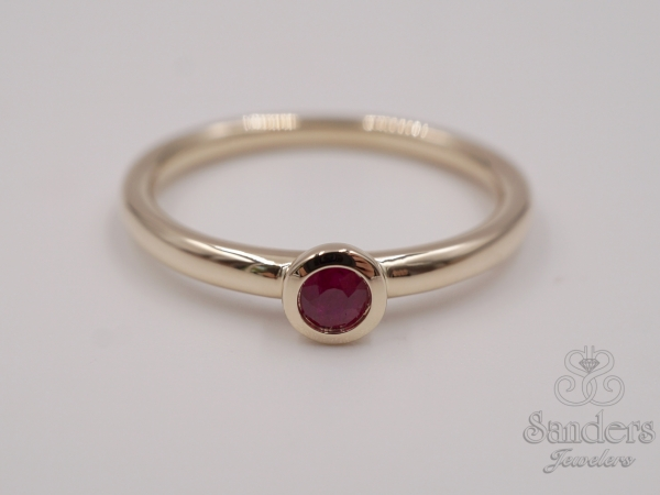 Rings - Ruby Stacker Ring