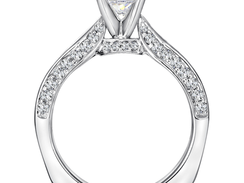 Bridal Jewelry - Solitaire with Diamond Profile - image #2