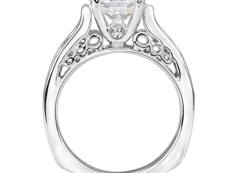Bridal Jewelry - Channel Set Diamond Infinity Profile Engagement Ring - image #4