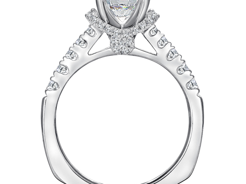 Bridal Jewelry - Diamond Fishtail Setting Engagement Ring - image #3
