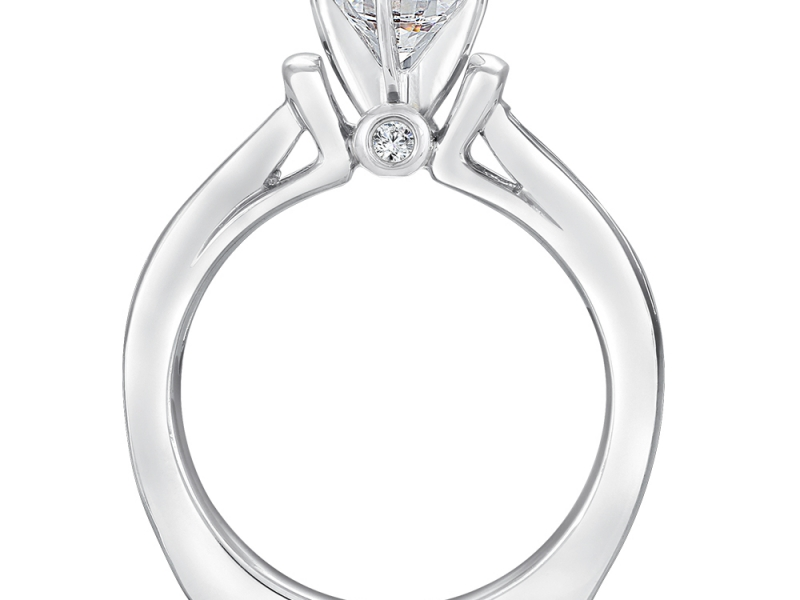 Bridal Jewelry - Tapering Channel Set Engagement Ring - image #4
