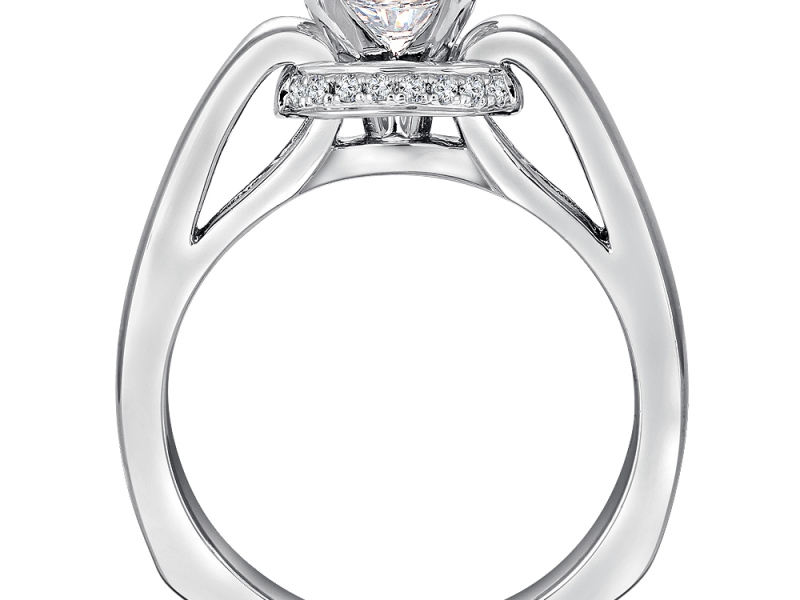 Engagement Rings - Solitaire with Gallery Halo - image #4