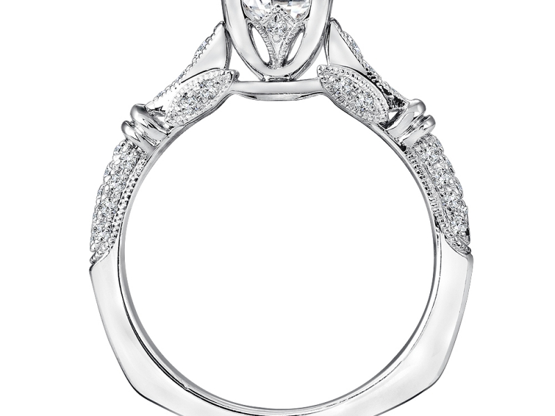Bridal Jewelry - Vintage Inspired Princess Cut Engagement Ring - image #3