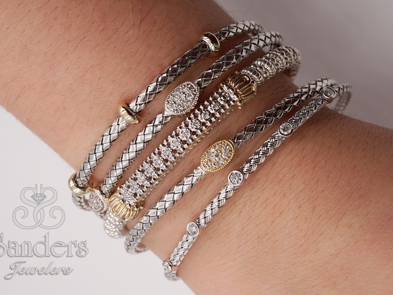 Bracelets - Two-Tone Bangle - image 2