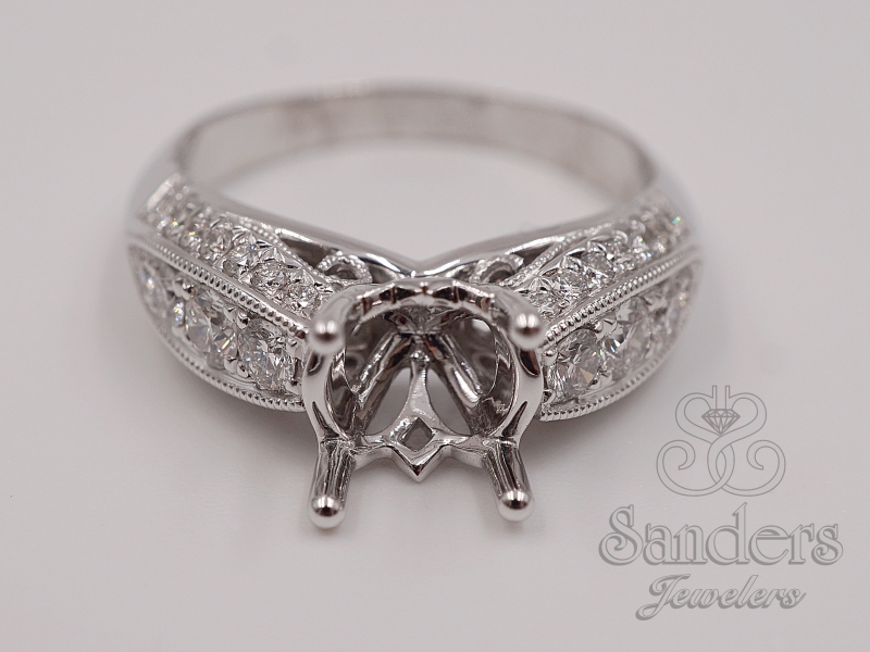 Bridal Jewelry - Three Sided Engagement Ring