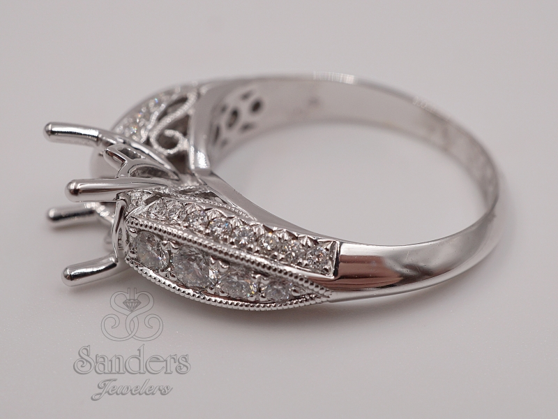 Bridal Jewelry - Three Sided Engagement Ring  - image #3