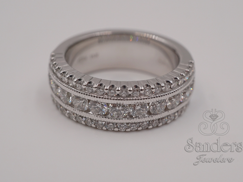 Bridal Jewelry - Wide Diamond Band