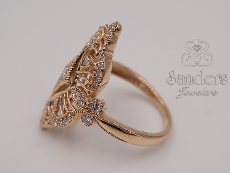 Rings - Rose Gold Cocktail Ring - image 2