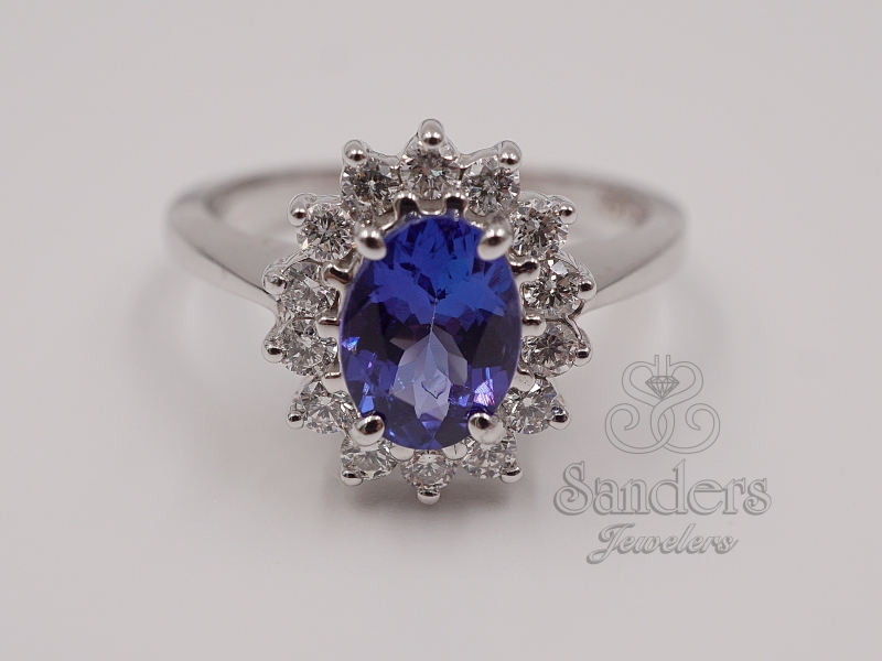 Rings - Tanzanite and Diamond Ring