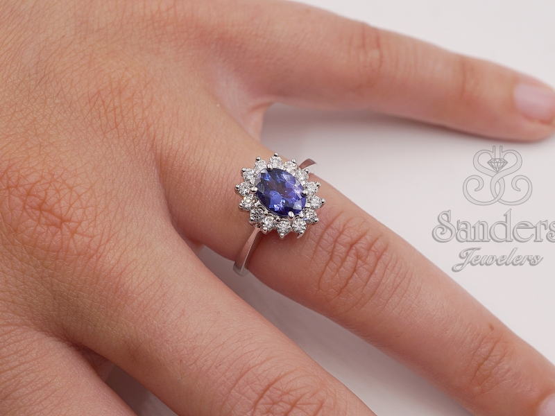 Rings - Tanzanite and Diamond Ring - image #3