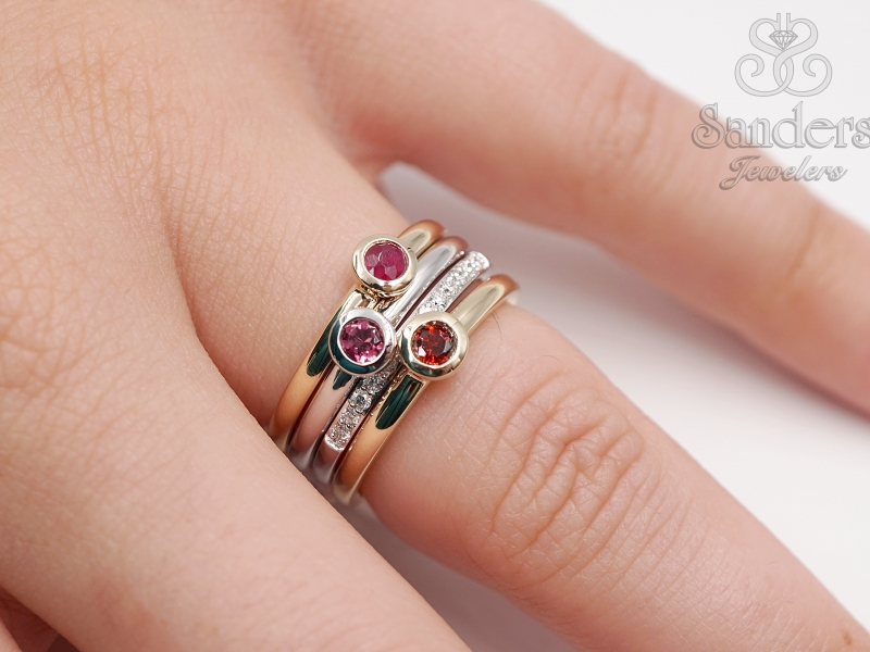 Rings - Tourmaline Stacker Ring - image #4