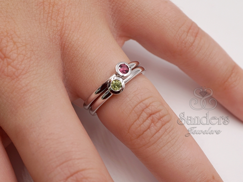 Rings - Tourmaline Stacker Ring - image #5